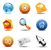 Icons for internet — Stock Vector