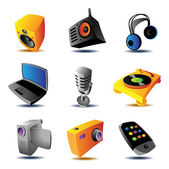 Icons of media devices — Stock Vector