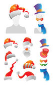 Christmas and carnival decorations — Stock Vector
