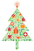 Christmas tree of icons — Stock Vector