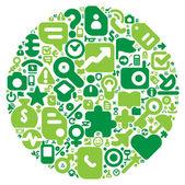Green concept of human world — Stock Vector