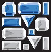 Gems of sapphire and diamond — Stock Vector