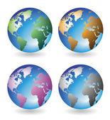 Multicolored globes — Stock Vector
