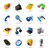 Realistic icons set for various devices — Stock Vector