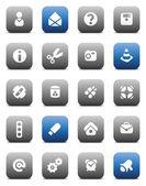 Matt miscellaneous buttons — Stock Vector