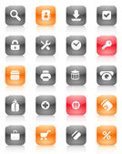 Red and orange buttons for internet — Stock Vector