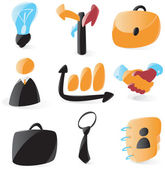 Smooth business icons — Stock Vector