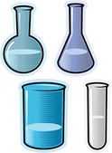Vector objects for chemical lab — Stock Vector