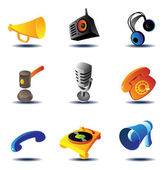 Icons of sound devices — Stock Vector