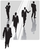 Businessman with security team — Stock Vector