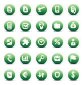 Vector icons for business metaphors — Stock Vector