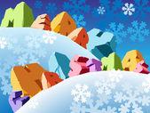 Slogan god jul — Stockvektor