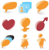 Smooth chat icons — Stock Vector