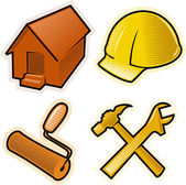 Vector objects for construction business — Stock Vector