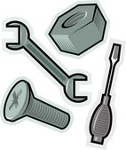 Vector objects for screw — Stock Vector