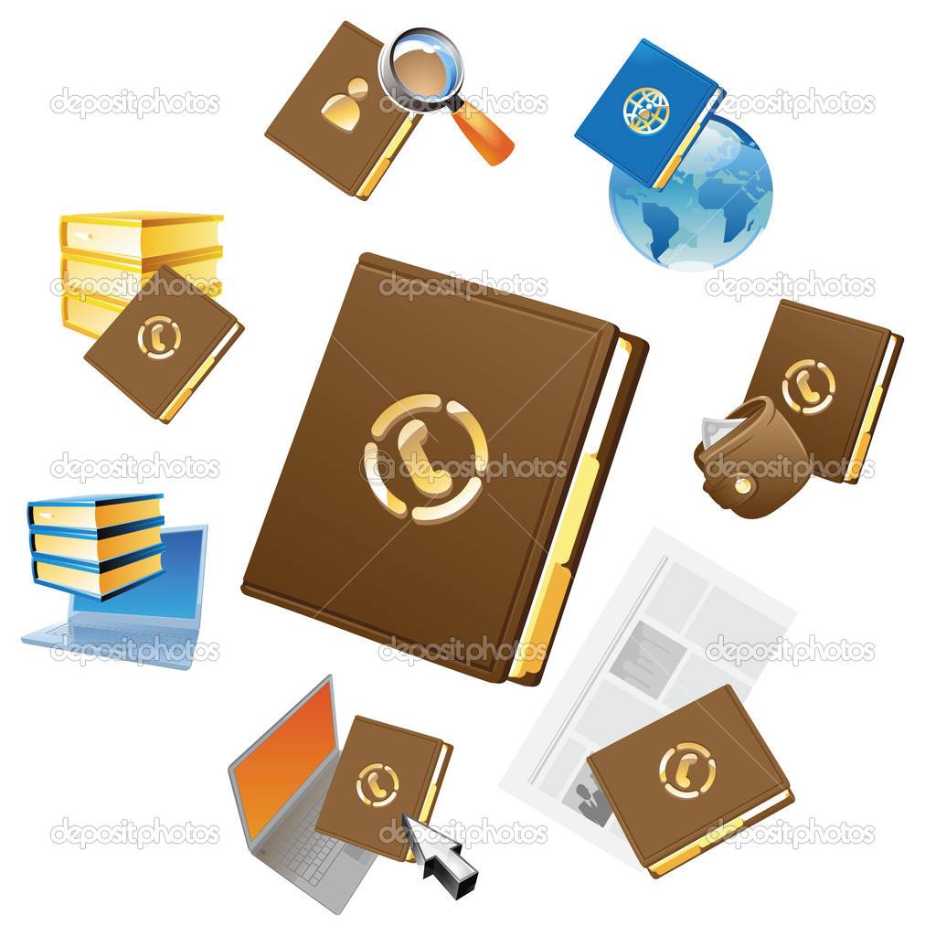 Concepts for personnel data and business contacts. Vector illustration.  Stock Vector #2781016