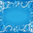 Blue ornate background — Stock Vector