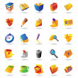 Realistic icons set for office themes — Vector de stock