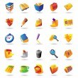 Realistic icons set for office themes — 图库矢量图片