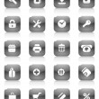 Black buttons for internet and shopping — Imagen vectorial
