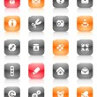 Royalty-Free Stock Vector Image: Red and orange buttons miscellaneous