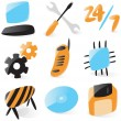 Stock Vector: Smooth computer service icons