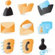 Smooth contacts icons — Stock Vector