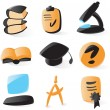 Smooth education icons — Stock Vector