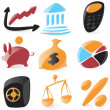 Smooth finance icons — Stock Vector
