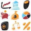 Smooth finance icons - Stock Vector