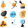 Stock Vector: Smooth science icons