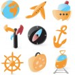 Smooth travel icons — Stock Vector
