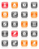 Red and orange buttons miscellaneous — Stock Vector