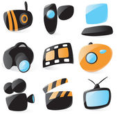 Smooth media device icons — Stock Vector