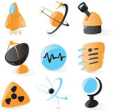 Smooth science icons — Stock Vector