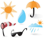Smooth weather icons — Stock Vector