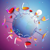 Wines planet — Stock Vector