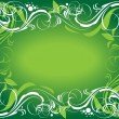 Green ornate background — Stock Vector