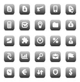 Vector icons for business — Stock Vector