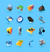 Realistic icons set for devices — Stock Vector