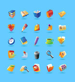 Realistic icons set for office — Stok Vektör