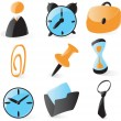 Smooth office icons — Stock Vector