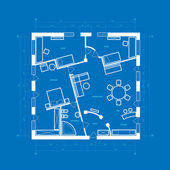 Blauwdruk abstract — Stockvector
