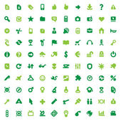 Green icons and signs — Stok Vektör