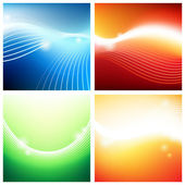 Vivid backgrounds of streams — Stock Vector