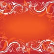 Red ornate background — Stock Vector