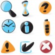 Smooth interface icons — Stock Vector