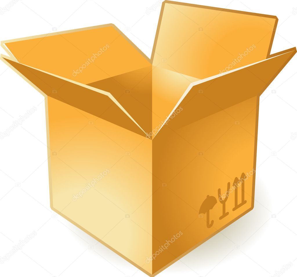 Icon of open box. Vector illustration.  Stock Vector #2919331