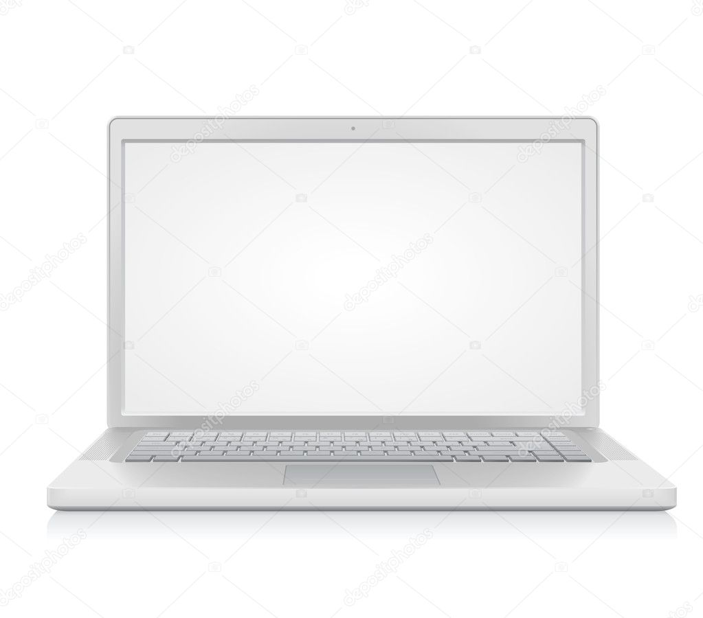 High detailed laptop. Vector illustration. — Stock Vector #2919346