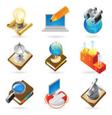 Icon concepts for science — Stock Vector